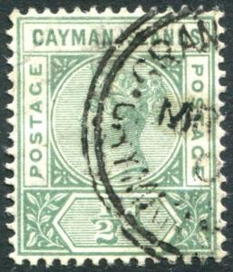 CAYMAN ISLANDS-1900  ½d Pale Green Sg 1a FINE USED V22676