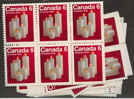 Canada - 1972 6c Christmas Candles X 85 mint #606