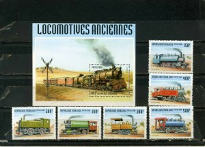TOGO 1999 Sc#1911H-1911N LOCOMOTIVES /TRAINS SET OF 6 STAMPS & S/S MNH