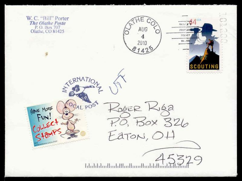 US - Olathe Poste 2010 Advertising Poster Stamps on Cover
