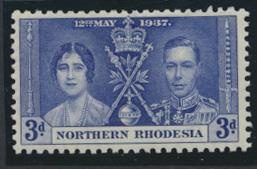 Northern Rhodesia  SG 24 SC# 24 MH  -  Coronation - see details