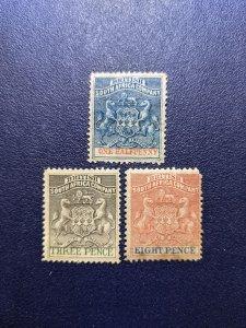 Rhodesia 1,4,8 F-VFMH, CV $52.25