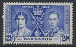 Barbados  SG 247 SC# 192 Coronation 1937  Used   see details and scan