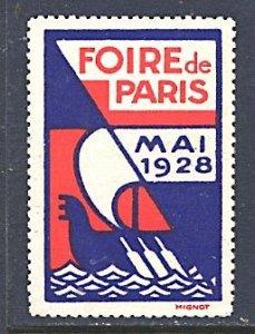 Cinderella France Foire de Paris Mai 1928 Viking Ship