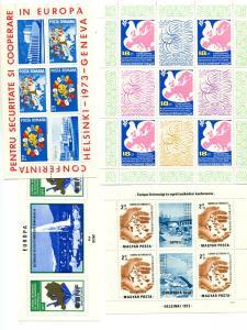 Hungary, Romania KSZE  Europa sheets Mint VF NH