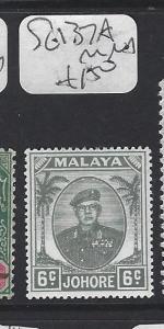 MALAYA JOHORE  (P0609B)  SUTAN  6C GREY  SG 137A  MNH