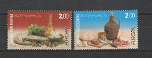 Bosnia & Herzegovina MNH Native Food Europa 2005