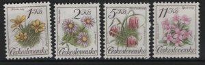 CZECHOSLOVAKIA, 2839-2842, (4)SET, HINGED, 1991, FLOWERS