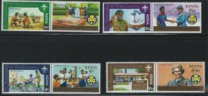 Kenya SC216-223 Pairs-Scouting Year MNH 1982