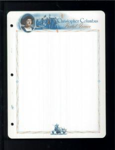 White Ace Historical Stamp Album Pages Columbus Topical Blank Pages Pack of 12