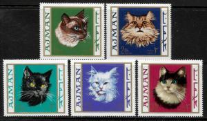 Ajman Michel #318-22 MNH Set - Cats