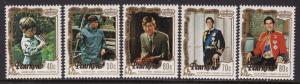 Penrhyn Island #195-99 F-VF Mint NH ** Royal Wedding
