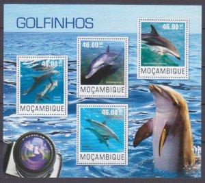 2014 Mozambique 7625-7628KL Marine fauna - Dolphins 10,00 €