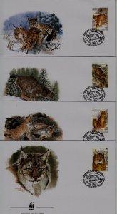 Belarus 354-57 FDC WWF-00/Wild cats
