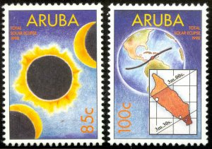 ARUBA 1998 SOLAR ECLIPSE Set Sc 160-161 MNH