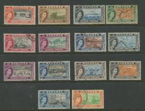 Bahamas  #158-171  Used  1954 Short Set of 14 Stamps