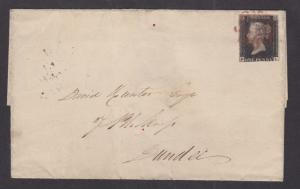 Great Britain Sc 1 on 1840 cover to Dundee, Maltese Cross cancel