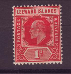 J16732 JLstamps 1907-11 leeward islands mh #43 king wmk 3,