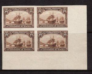 Canada #103a Extra Fine Mint Corner Block Imperf Full Original Gum Hinged