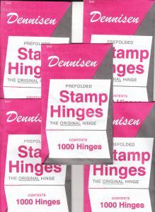 10 UNOPENED PACKS OF DENNISEN STAMP HINGES 1000 FOLDED LOWEST PRICE ON EBAY
