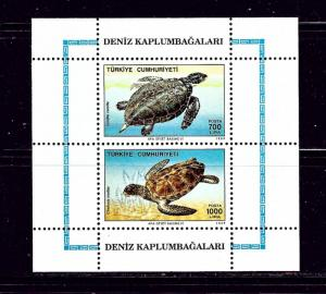 Turkey 2457a MNH 1980 Turtles souvenir sheet