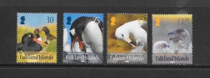 PENGUINS - FALKLAND ISLANDS #1132-5  MNH