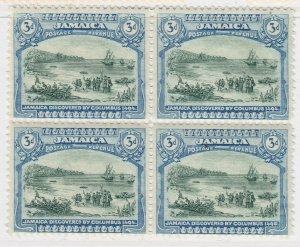 British Colony Jamaica 1922 3d Mirtle Green Wmk Mult Script CA MH* A22P19F8954