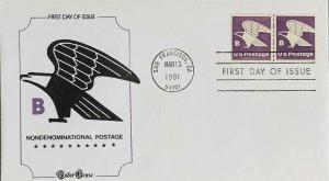 Tudor House 1820 B Nondenominational postage Line Coil Pair