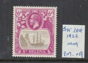 ST HELENA 1922 6D GREY/PURPLE MINT SG104