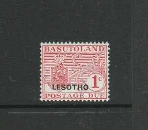 Lesotho 1966 Postage Due, 1c Opt at bottom, see note by Gibbons, Proof, MM