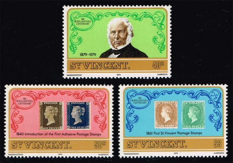 St. Vincent #545-547 Sir Rowland Hill Set of 3; MNH (0.90)