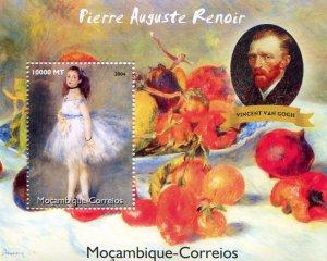 Mozambique 2004 RENOIR Paintings & Vincent Van Gogh s/s Perforated Mint (NH)