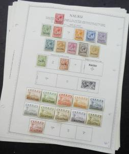 EDW1949SELL : NAURU Beautiful, all VF Mint OG collection on album pages Cat $230