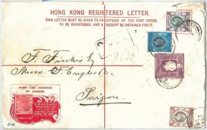 69386 - HONG KONG - POSTAL HISTORY - STATIONERY COVER Yang # 15 to SAIGON 1907