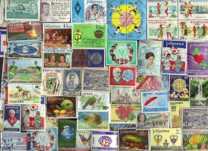 200 All Different  PHILIPPINES STAMPS