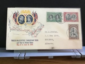 Canada 1939 Toronto  Royal Canadian Tour   stamps cover R31635
