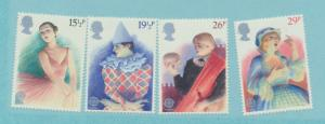 Great Britain Scott #987 To 990, Perforimg Arts Issue From 1982 - Free U.S. S...