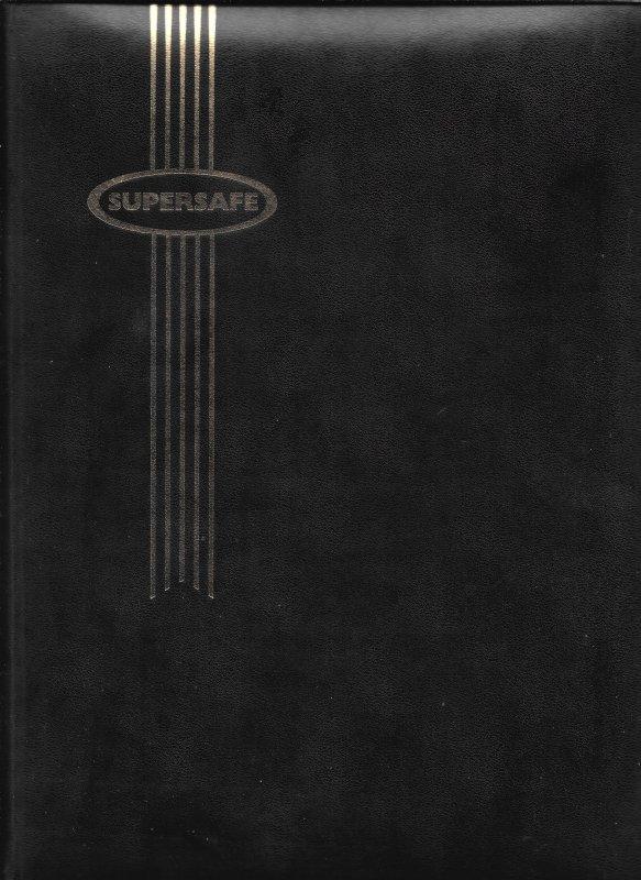 32 Page Supersafe Black Page Stockbook / Black Cover
