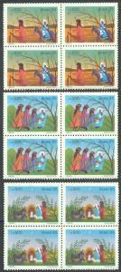 BRAZIL SC# 2034-6 VF MNH 1985 Blocks of 4