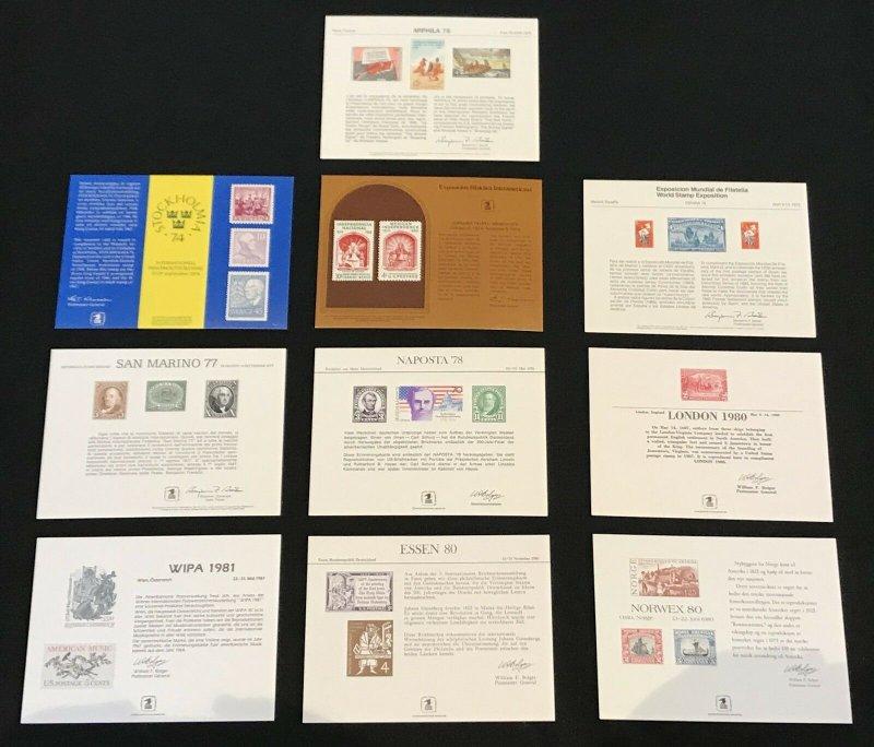 US 1968-81 USPS Souvenir Cards Mixed Lot of 20