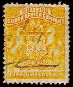 Rhodesia Scott 14 (1890) Used F, CV $65.00 C