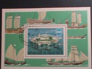 UPPER VOLTA-1975- EXPO-75, OCEAN EXPOSITION CTO  S/S VERY FINE