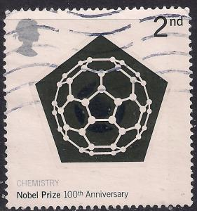 GB 2001 QE2 2nd Centenary Of Nobel Prizes used SG 2232 ( C1018 )