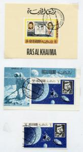 RAS AL KHAIMA  JOHN F KENNEDY SPACE  STAMPS & S/S   USED