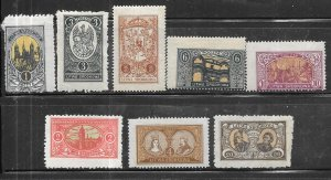 Central Lithuania  #53-58 aset complete (MH) CV $20.50