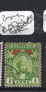 ZANZIBAR  (P2401B)  YOUNG SULTAN 1/2A  SG 156  VFU