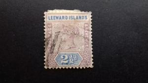 Leeward Islands 1890 Queen Victoria Used
