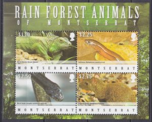 2009 Montserrat 1476-79KL Reptiles