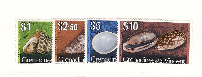 St. Vincent (Gren.), 48-51, Shells Hi-Values Singles, MNH