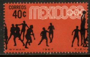 MEXICO 982, 40c Basketball 3rd Pre-Olympic Set 1967 UnusedOG